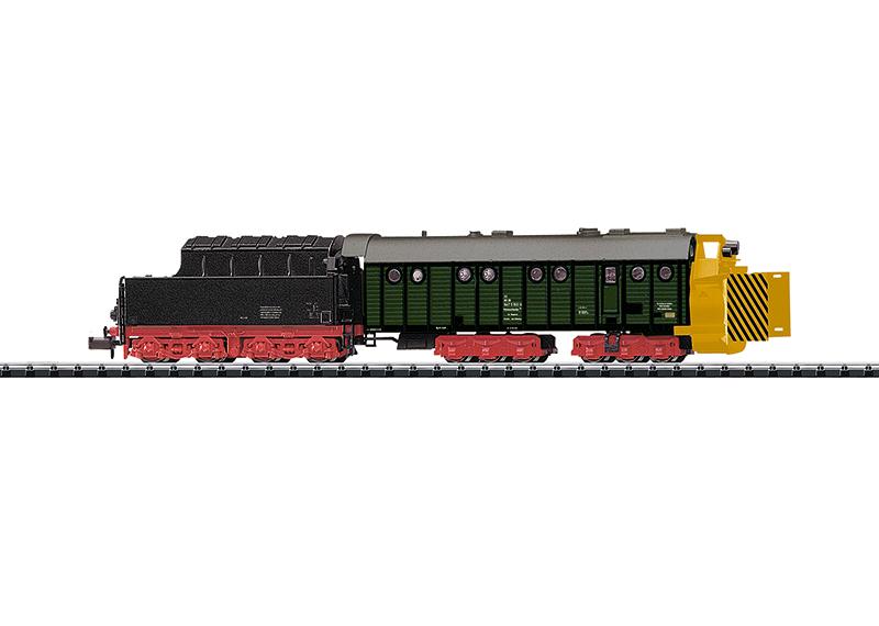 N Scale - Minitrix - 15422 - Maintenance of Way, Rotary Snow Plow, Henschel - Deutsche Bundesbahn - 30 80 947 5 160-6