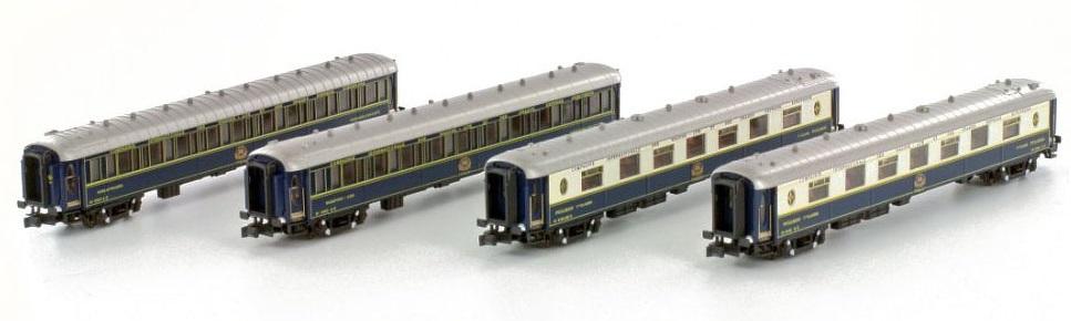 N Scale - Kato Lemke - K23218 - CIWL 4 Cars Orient Express - Compagnie Internationale des Wagons-Lits