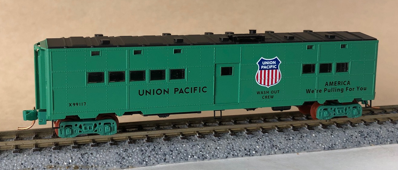 N Scale - Micro-Trains - NSC 05-105 - Passenger Car, Troop Transport - Union Pacific - X99117