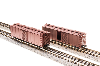 N Scale - Broadway Limited - 3664 - Boxcar, 40 Foot, Steel Single Door - Undecorated - Undecorated