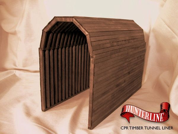 N Scale - Hunterline - HTLTUNNEL - Structure, Wooden Tunnel Liner - Railroad Structures - CPR Timber Tunnel Liner