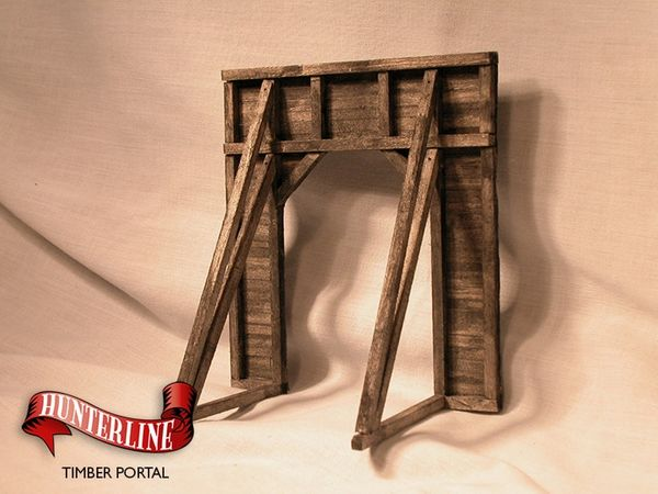 N Scale - Hunterline - HTLPORTAL - Structure, Wooden Tunnel Portal - Railroad Structures - Timber Portal