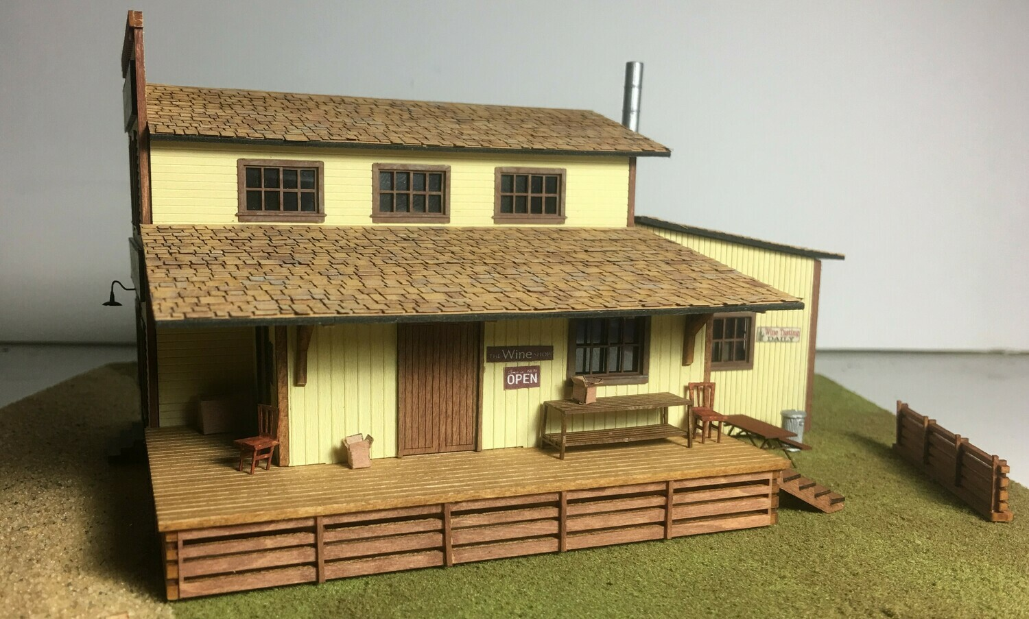 N Scale - Motrak Models - 13402 - Structure, Commercial,Winery - Commercial Structures - Countryside Winery