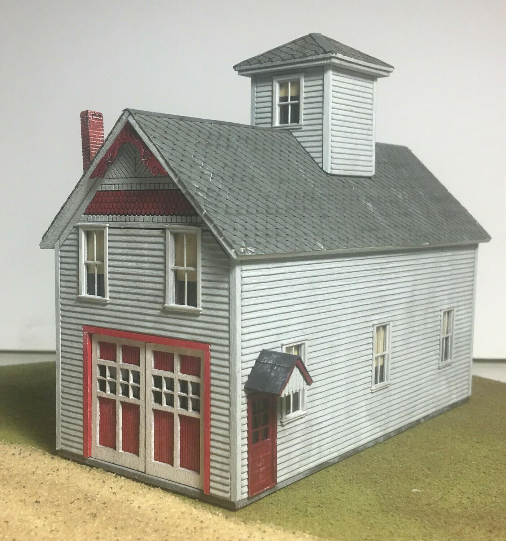 N Scale - Motrak Models - 13006 - Structure, Municipal, Fire Station, Firehouse - Municipal Structures - Alton Fire Station