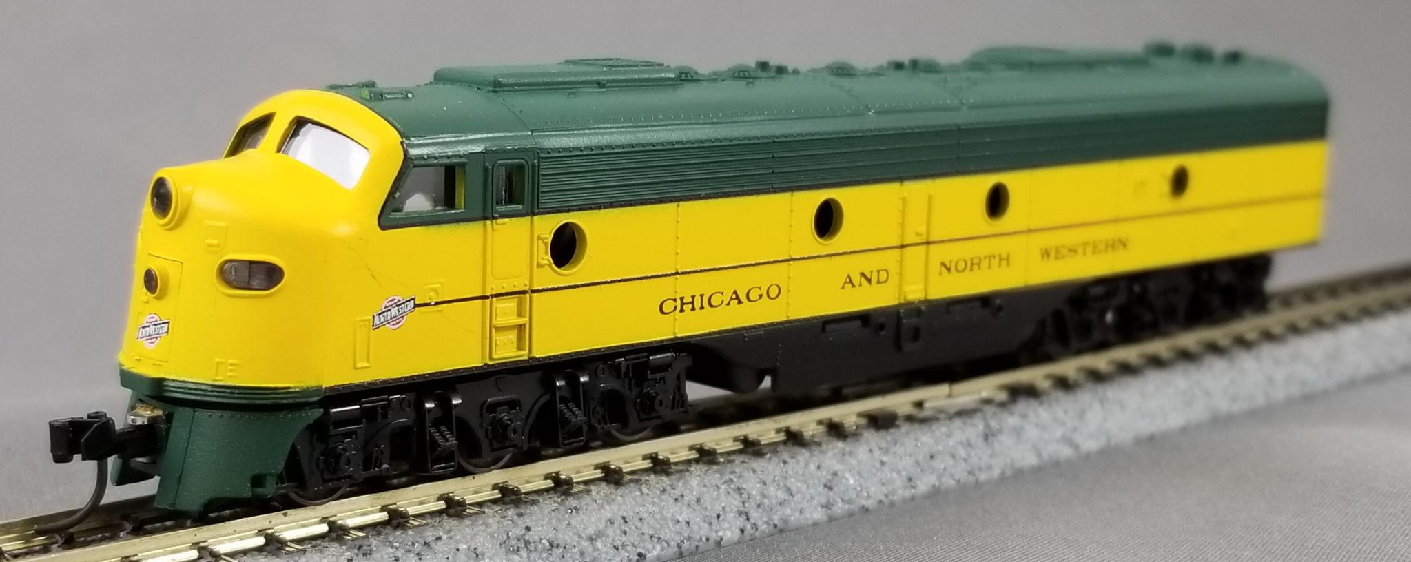N Scale - Con-Cor - 0001-2743(01) - Locomotive, Diesel, EMD E8 - Chicago & North Western - 5008A