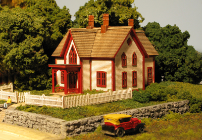 N Scale - Monroe Models - 9205 - Residential Structures, Victoria - Residential Structures - Ellies House