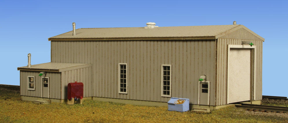 N Scale - Monroe Models - 9219 - Engine House - Railroad Structures - Diesel Engine House