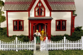 N Scale - Monroe Models - 9308 - Structure, Wooden Picket Fence - Scenery - Ornate Picket Fence