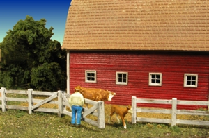 N Scale - Monroe Models - 9310 - Structure, Wooden Fence - Scenery - Barn Yard Fence