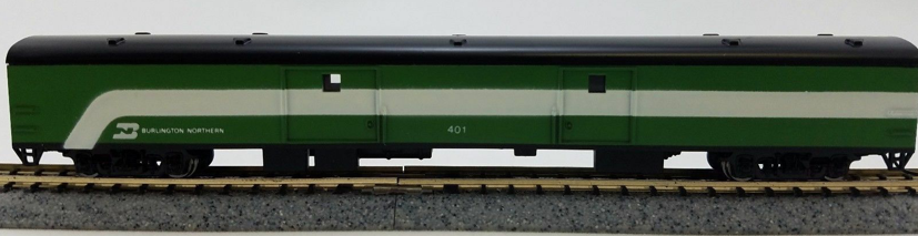 N Scale - Con-Cor - 0001-040328 - Passenger Car, Lightweight, Smoothside - Burlington Northern - 401