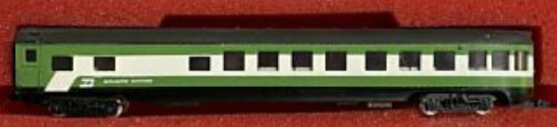 N Scale - Con-Cor - 4041H - Passenger Car, Lightweight, ACF Observation Lounge - Burlington Northern