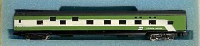 N Scale - Con-Cor - 0001-04011H - Passenger Car, Smoothside, 85 Foot Sleeper - Burlington Northern