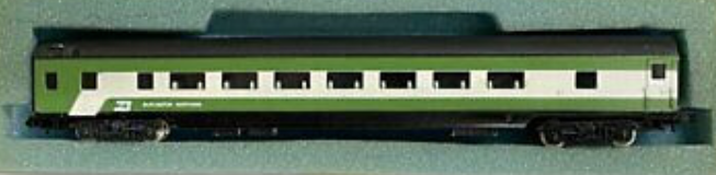 N Scale - Con-Cor - 4001H - Passenger Car, Lightweight, Smoothside, Coach - Burlington Northern