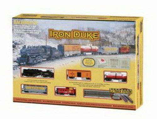 N Scale - Bachmann - 24005 - Passenger Train, Steam, North American, Old Time - Painted/Unlettered - Iron Duke