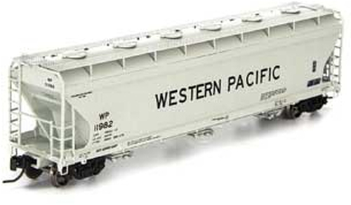 N Scale - Athearn - 6960 - Covered Hopper, 3-Bay, ACF 4600 - Western Pacific - 11982