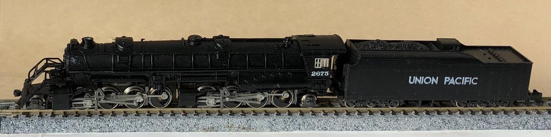 N Scale - MRC - 2882 UP - Locomotive, Steam, 2-8-8-2 USRA - Union Pacific - 2675