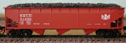 N Scale - Bluford Shops - 73283 - Open Hopper, 3-Bay, 70 Ton Offset - Bessemer & Lake Erie - 3-Pack