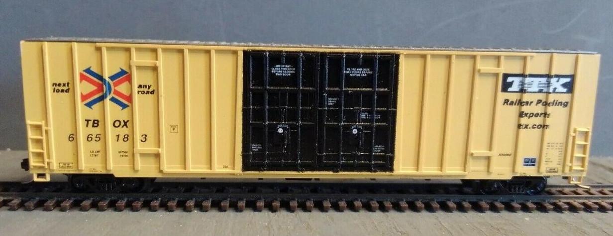 N Scale - LBF Company - 5904 - Boxcar, 60 Foot, Gunderson, Hi-Cube - RailBox - 665183