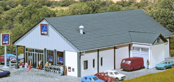N Scale - Kestrel Designs - GMKD1013 - Commercial, Store, Supermarket, Grocery - Commercial Structures - Supermarket Kit