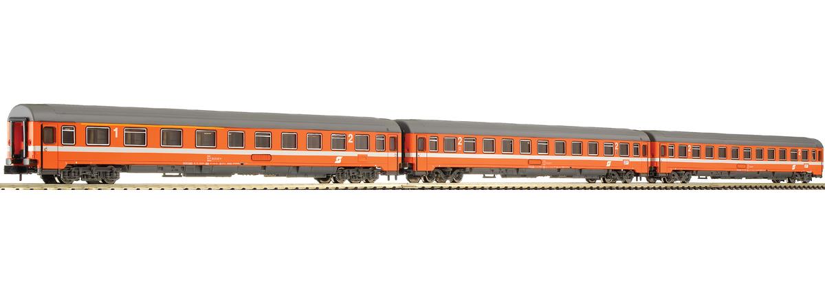 N Scale - Fleischmann - 816701 - Passenger Car, UIC, Type Z - ÖBB (Austrian Federal Railways) - 3-Pack