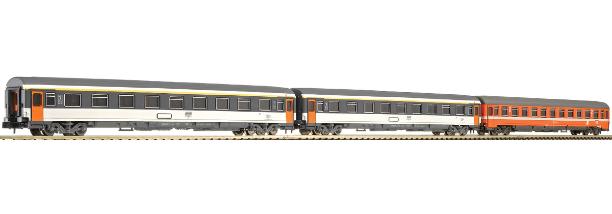 N Scale - Fleischmann - 816702 - Passenger Car, UIC, Type Z - ÖBB (Austrian Federal Railways) - 3-Pack