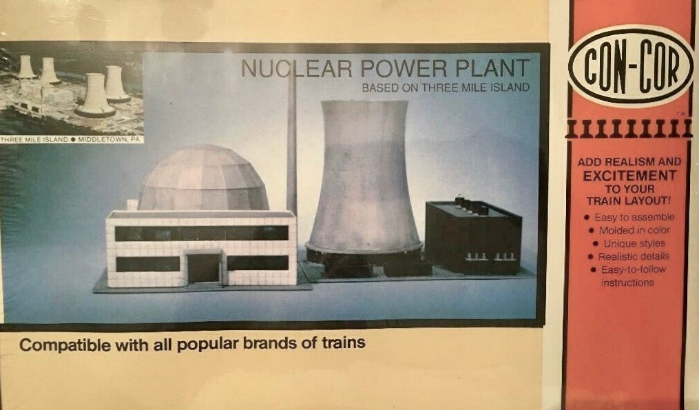 N Scale - Con-Cor - 680 - Nuclear Power Plant - Industrial Structures - Nuclear Power Plant