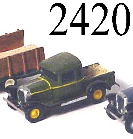 N Scale - Lineside Models - 2420 - Flatbed Truck - Undecorated