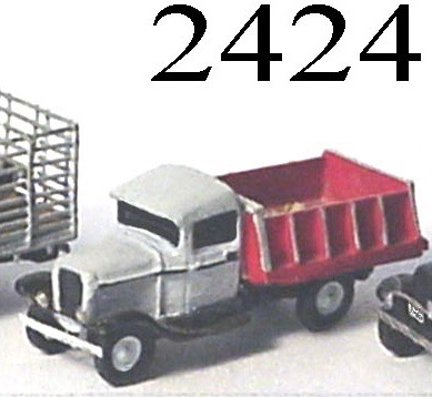 N Scale - Lineside Models - 2424 - Dump Truck - Undecorated