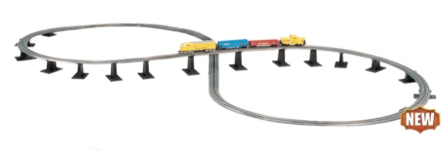 N Scale - Bachmann - 44877 - Nickel Silver Figure 8 Track Set - Track, N Scale - Track Pack