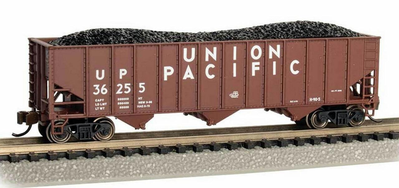 N Scale - Bachmann - 18751 - Open Hopper, 3-Bay, 100 Ton - Union Pacific - 36255