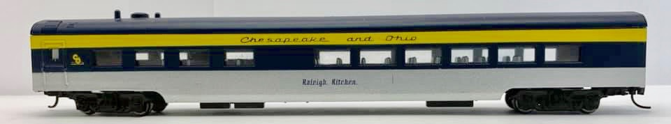 N Scale - Con-Cor - 0001-040291 - Passenger Car, Lightweight, Smoothside - Chesapeake & Ohio - Raleigh Kitchen