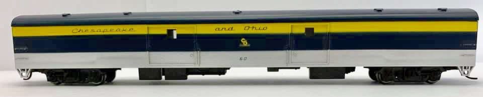 N Scale - Con-Cor - 0001-040341 - Passenger Car, Lightweight, Budd - Chesapeake & Ohio - 60