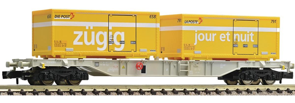 N Scale - Fleischmann - 824403 - Container Wagon - SBB CFF FFS