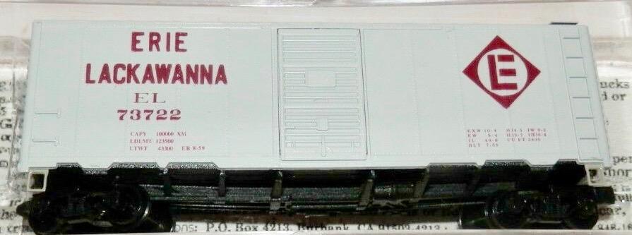 N Scale - Deluxe Innovations - 141203 - Boxcar, 40 Foot, AAR 1944 - Erie Lackawanna - 73722