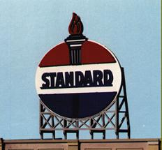 N Scale - Blair Line - 1522 - Signs - Standard Oil Company