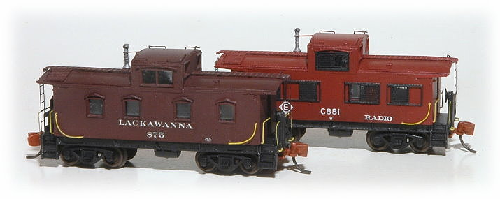 N Scale - Eastern Seaboard Models - 600101 - Caboose, Cupola, Steel, NE - Undecorated - Keyser Valley Caboose Kit