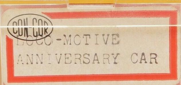 N Scale - Con-Cor - Anniversary Car - Boxcar, 50 Foot, Steel - Commemorative - 1984