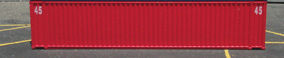 N Scale - Deluxe Innovations - 6011 - Container, 45 Foot - Dimensional Data - 2-Pack