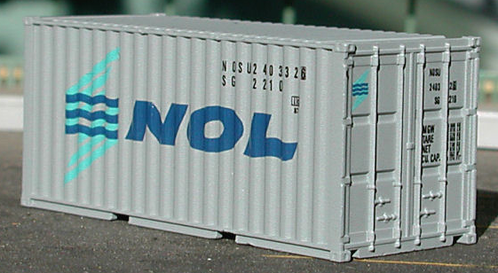 N Scale - Deluxe Innovations - 3180 - Container, 20 Foot, Smooth, Refrigerated - NOL/NLS - 2-Pack