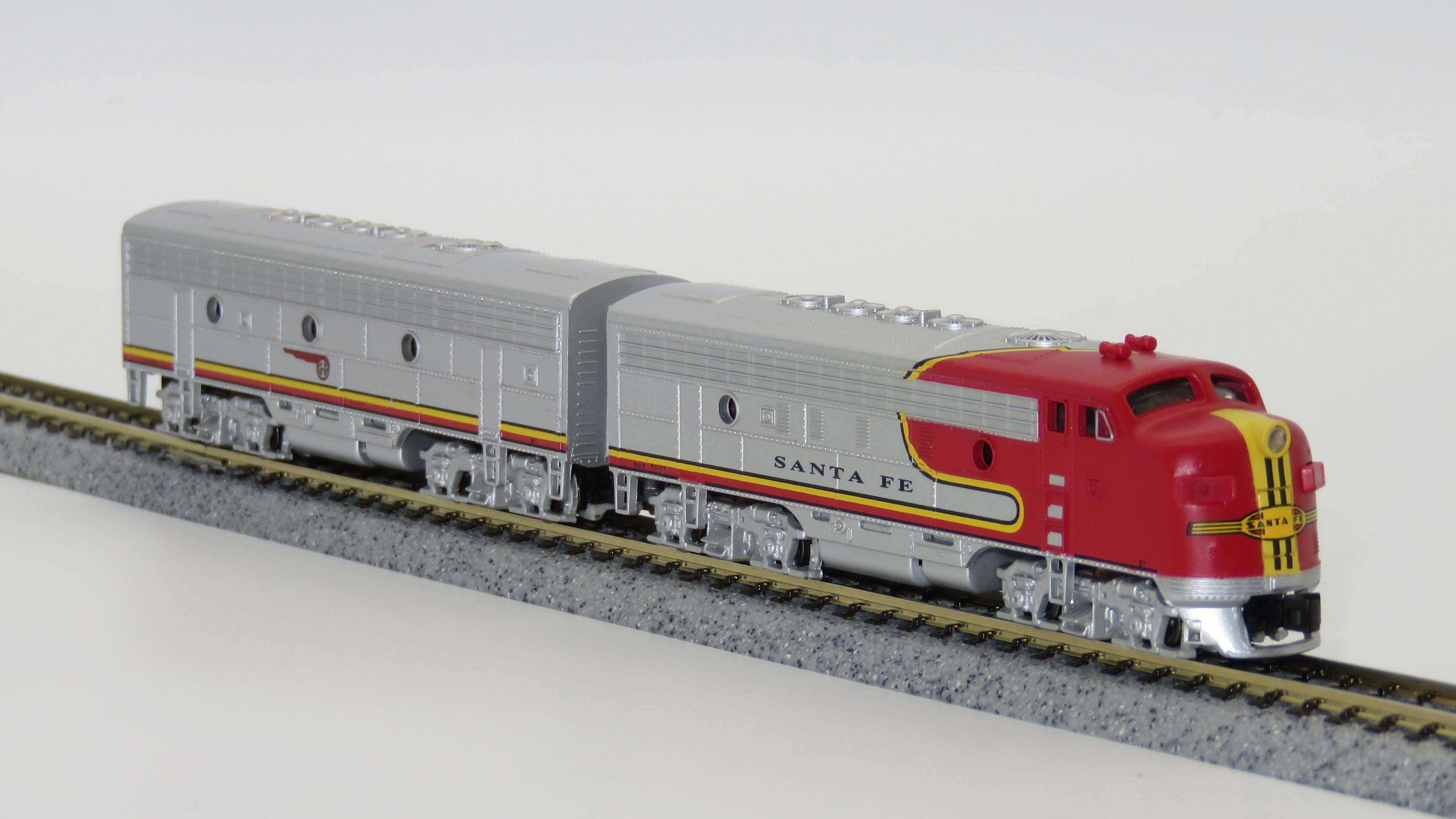N Scale - Bachmann - 81259 - Locomotive, Diesel, EMD F7 - Santa Fe - 307, 316B