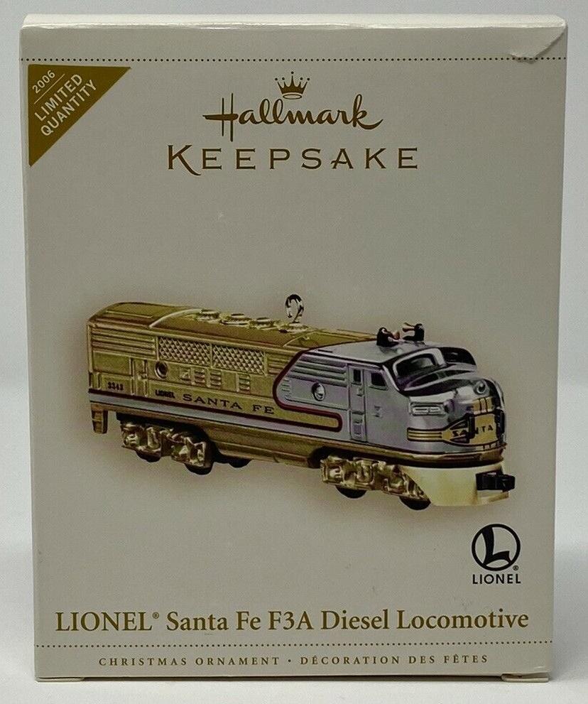 N Scale - Hallmark Cards - QXE3233 - Locomotive, Diesel, EMD F3 - Santa Fe - 2343