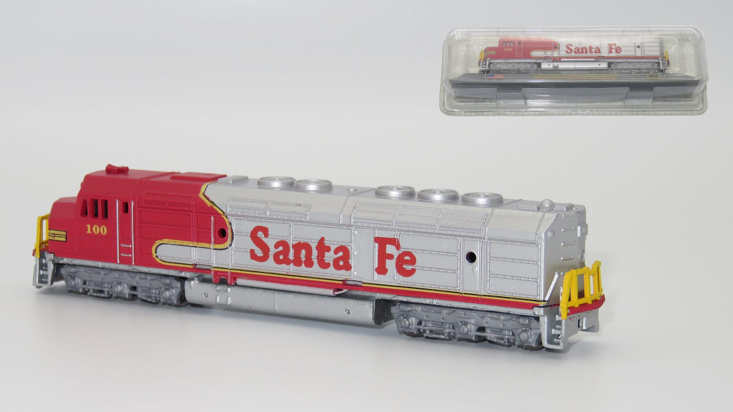 N Scale - Del Prado - 19 - Locomotive, Diesel, EMD FP45 - Santa Fe - 100
