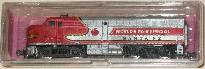 N Scale - Ak-Sar-Ben - 201 - Locomotive, Diesel, Alco FA/FB - Santa Fe