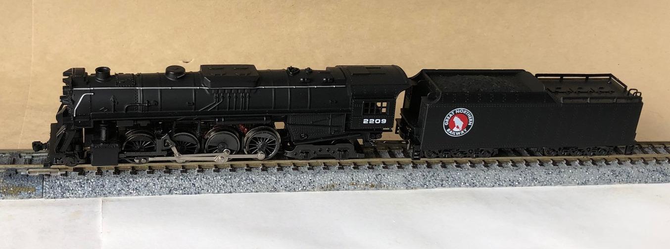 N Scale - Con-Cor - 0003-003511 - Locomotive, Steam, 2-8-4 Berkshire - Great Northern - 2209