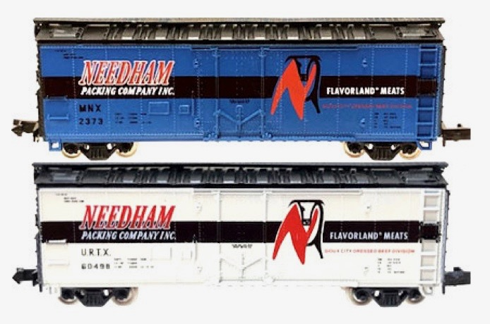N Scale - Brooklyn Locomotive Works - 1000-7S - Reefer, Ice, Steel - Needham Packing - 2-Pack
