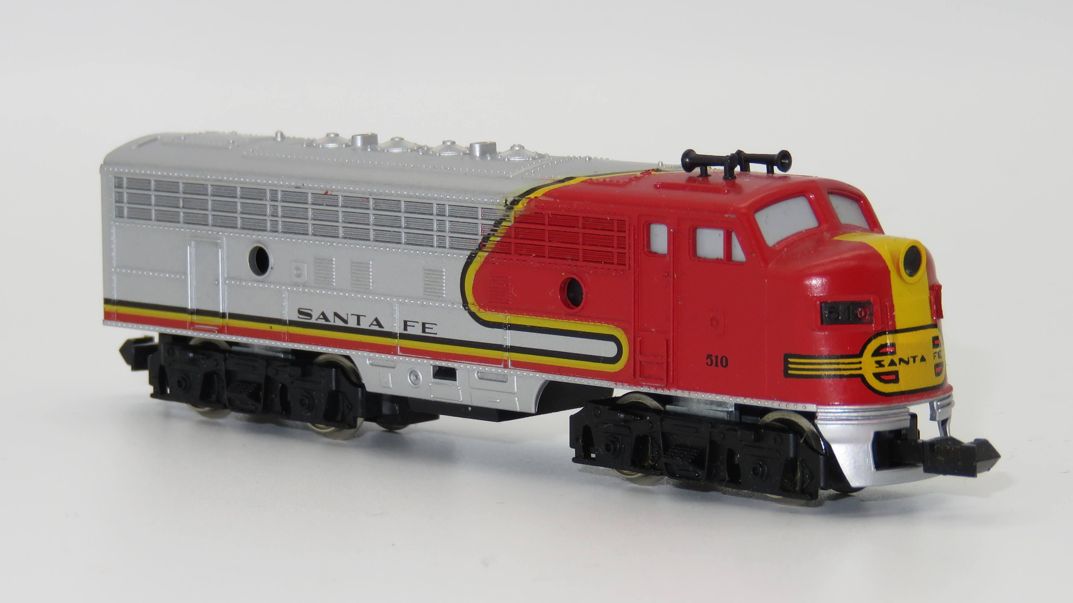 N Scale - Minitrix - 51295200 - Locomotive, Diesel, EMD F9 - Santa Fe - 510