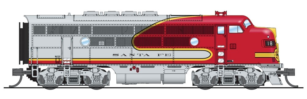 N Scale - Broadway Limited - 3480-A - Locomotive, Diesel, EMD F3 - Santa Fe - 18L