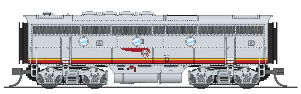 N Scale - Broadway Limited - 3480-B - Locomotive, Diesel, EMD F3 - Santa Fe - 18A
