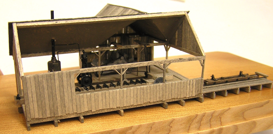 N Scale - RSLaserKits - KMP-N-SM - Saw Mill - Industrial Structures - Lazinka Saw Mill