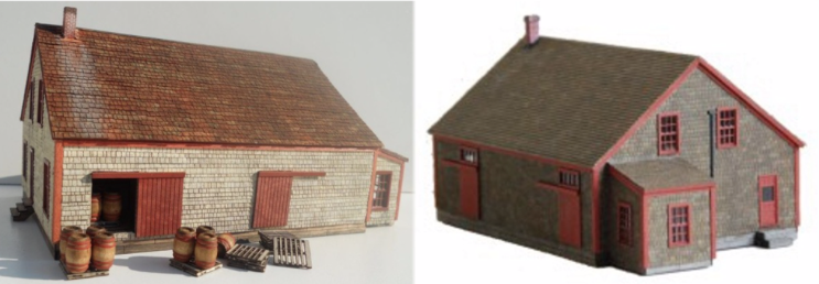 N Scale - RSLaserKits - SCM-302 - Potato House - Agricultural Structures - Potato House